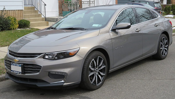 Best car #3: 2018 Chevrolet Malibu