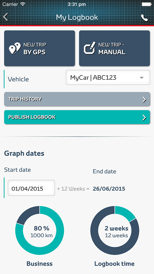 business logbook time